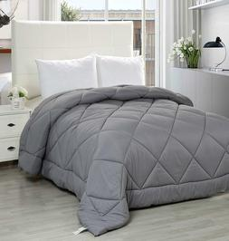 Utopia Bedding Quilted Comforter with Corner Tabs - Plush Si
