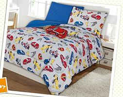 WPM Race Car red blue print bedding set choose from Full/Twi