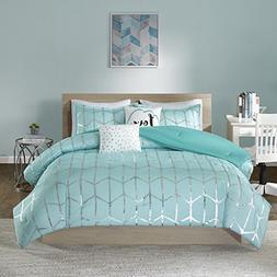 raina comforter set aqua twin