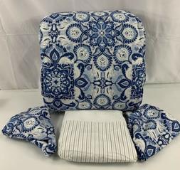 Ralph Lauren Queen Comforter Set Moroccan Tile Coral Blue NW