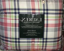 Ralph Lauren MULTI COLOR PLAID Comforter Set - FULL/QUEEN
