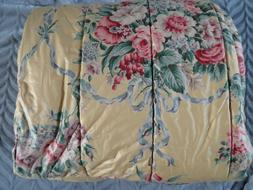 *RARE* New RALPH LAUREN Archival Evelyn KING COMFORTER Vinta