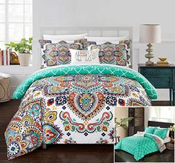 Chic Home Raypur 8 Piece Comforter Set Reversible Paisley Be