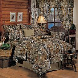 Realtree All Purpose Camo Comforter Set With Sheet and Curta