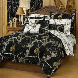 Black Realtree AP Camo Comforter Set & Sheets~Bed in Bag~ wi