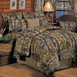 Realtree All Purpose Camo 5 Pc Queen Comforter Set - Hunting