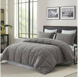 Modern Bedroom Reflections Comforter Set Gray King: Comforte