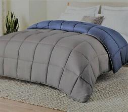 LINENSPA REVERSIBLE DOWN ALTERNATIVE QUILTED COMFORTER, TWIN