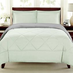 Sweet Home Collection 3 Piece Reversible Polyester Microfibe