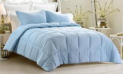 3pc Reversible Solid/ Emboss Striped Comforter Set- Oversize