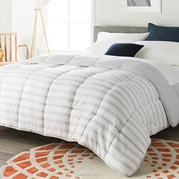 Linenspa Reversible Striped Down Alternative Quilted Comfort
