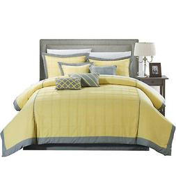 Chic Home Rhodes Pintuck 8 Piece Comforter Sheet Set Yellow