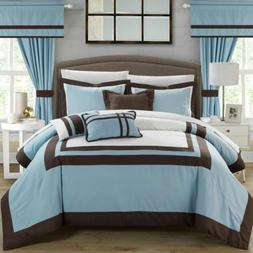 Chic Home Ritz 20 Piece Comforter Set Color Block Bed in a B