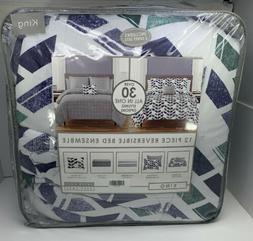 rogan 12 piece reversible king comforter set