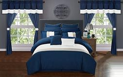Chic Home Rory 24 Piece Comforter Set Color Block Quilted Em