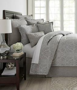 "Southern Living ""Royalton"" Gray Full/Queen Comforter Set NWT"