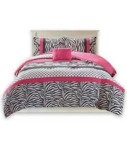 Queen Size Comforter Set - 4 Pieces All Season Bed In A Bag