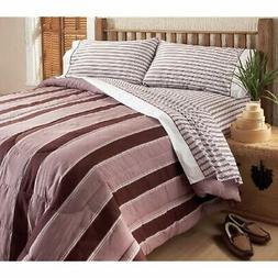 Sanctuary Twin Comforter Set, Burgundy Home &amp Kitchen