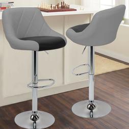 Set of 2 Adjustable 360 Degree Swivel Backrest Bar stools Ex
