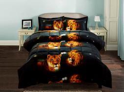 3 Piece Set Box Stitched Lion Pride Prints 3d Comforter Set