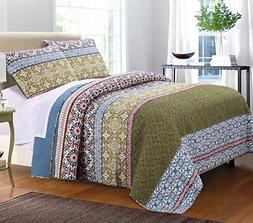 Greenland Home® Shangri-La Quilt Set