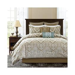Madison Park Signature Pierce 8 Piece Comforter Set Ivory Ca