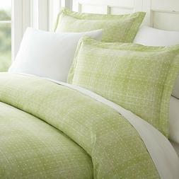 Elegant Comfort Silky Soft 4-Piece Polka Dot Pattern Bed She