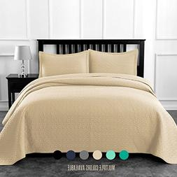Luxe Bedding Solid Color Lightweight Oversize Cotton Filled