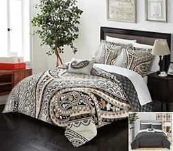 Chic Home 4 Piece Soliel Large Scale Paisley Contemporary RE