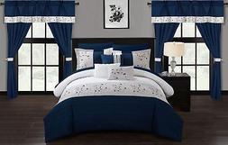 Chic Home Sonita 20 Piece Comforter Set Color Block Floral E