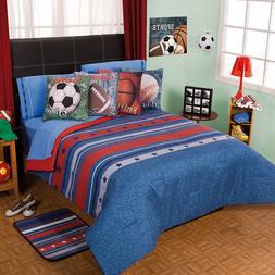 Sports Champion Football Soccer Basketball Comforter Set New