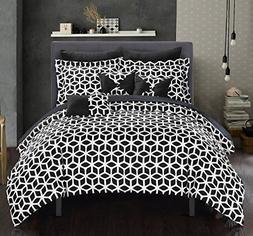 Chic Home Stefanie 10 Piece Comforter Set Geometric Diamond