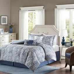 Harbor House Stella King Size Bed Comforter Set - Blue, Pais