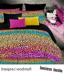 Veratex Street Revival 100% Polyester 4-Piece Kids Rainbow L