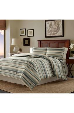 Tommy Bahama Stripe Canvas Comforter, Sham & Bed Skirt Set,