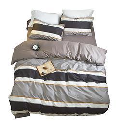 f8d8e1c9575b ORoa Cotton Striped Boys Twin Duvet Cover Sets Multi Color 3