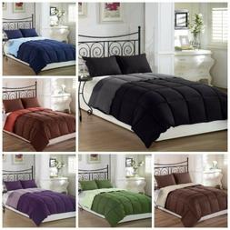 super soft goose down alternative reversible comforter