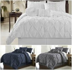 Chezmoi Collection Sydney Pinched Pleat Pintuck Bedding Comf