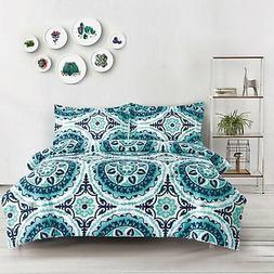 Wake In Cloud - Teal Comforter Set Queen, 3-Piece Turquoise