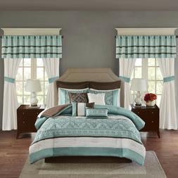 Madison Park Teal Green Luxurious 24 Piece Bedding Comforter
