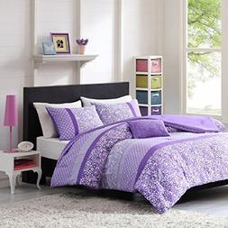 Teen Girl Comforter Sets Purple Lavender Lilac Bedding Flowe