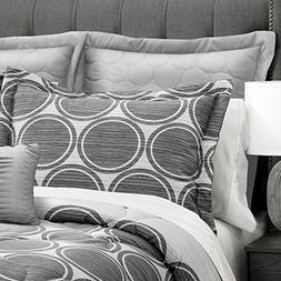 textured circle comforter set