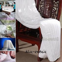 Top Grade 100% Mulberry Silk Filled Comforter Quilt Duvet Do