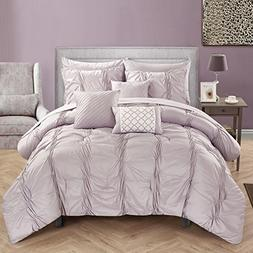 Chic Home 10 Piece Tori Pinch Pleated, Ruffled And Pleated C