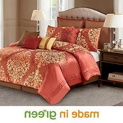 Wonder-Home 10-pc. Tranditional Damask Comforter Set, Jacqua