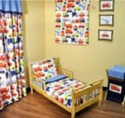 Transporation Multicolor 4 pc Todler bedding set