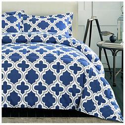 Superior Trellis Comforter Set with Pillow Shams, Luxurious