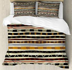 Tribal Duvet Cover Set with Pillow Shams Ethnic African Trip