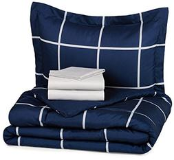 Twin XL Bedding Sets For Dorms College dorm Room Navy Blue 5