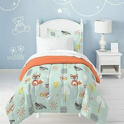 Twin Dream Factory Casual Woodland Friends Comforter Set Gre